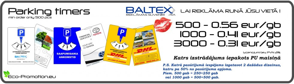 parking timers - PromoHouse / BALTEX SA