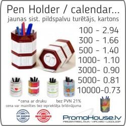 1 galda kalendārs / pildspalvu turētājs
