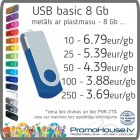 134 USB zibatmiņa BASIC 8 Gb