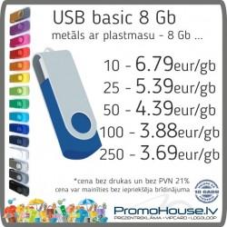 134 USB zibatmiņa BASIC 8 Gb